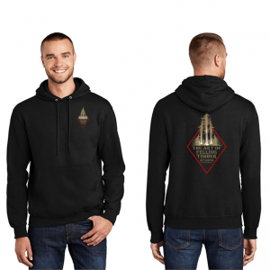 Black Hoodie with The Art of Felling Timber logo product
